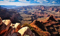 Grand canyon clear day landscape Royalty Free Stock Photo