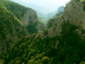 The grand canyon of crimea view from plateau Stock Photography