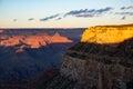 Grand canyon at dusk Royalty Free Stock Photo