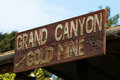 Grand Canyon Gold Mine sign Stock Photos