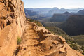 Grand Canyon Landscape Overview on Trail Royalty Free Stock Photo