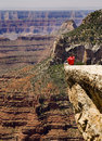 Grand canyon lookout Royalty Free Stock Photo