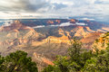 Grand Canyon National Park at dusk, Arizona, USA Royalty Free Stock Photo
