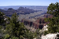 The grand canyon north ri ridges and slopes of s rim as seen from trail to viewpoint taken at rim Stock Images