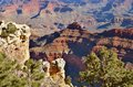Grand canyon a spectacular view of the photo taken november Royalty Free Stock Photo