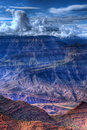 Grand Canyon Storm Royalty Free Stock Photo