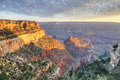 The Grand Canyon at sunset Royalty Free Stock Photo