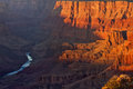 Grand canyon sunset colorado river from desert view point at national park az Royalty Free Stock Photos