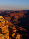 Grand canyon sunset at the national park in arizona Royalty Free Stock Photos