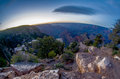 Grand canyon under moon and star light Royalty Free Stock Photo