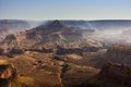 Grand canyon view of a gorge optical illusion created by the haze Stock Photography