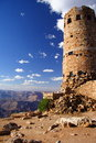 Grand Canyon watchtower Stock Image