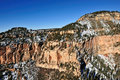 Grand Canyon winter scene Royalty Free Stock Photography