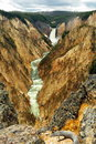 Grand Canyon of the Yellowstone. Royalty Free Stock Photo
