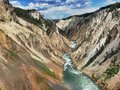 Grand Canyon of the Yellowstone Stock Image
