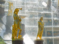 Grand Cascade Fountains at Peterhof Palace Stock Photos