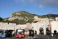 Grand casemates gibraltar bus station at gates in Stock Photos
