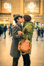 Grand Central Kiss Royalty Free Stock Photo