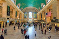 Grand central station main hall new york city usa may in the is famous for a lot of films and this clock is world Stock Photography