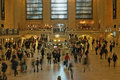 Grand central station new york city holiday travelers in terminal Royalty Free Stock Photography