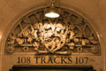 Grand central terminal detail new york usa tracks for tickets at Royalty Free Stock Image