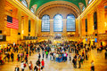 Grand central terminal in new york city may with people on may city it s the largest train station the world by number Stock Images