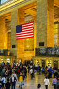 Grand central terminal in new york city may with people on may city it s the largest train station the world by number Royalty Free Stock Photography