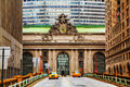 Grand central terminal viaduc in new york and old entrance Royalty Free Stock Image