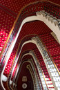 Grand classic staircase in Hotel Royalty Free Stock Photo