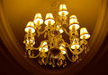 Grand crystal chandelier Stock Image