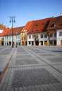 Grand dos central, Sibiu Images libres de droits