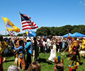 Grand Entry at Shinnecock POW WOW Royalty Free Stock Photos