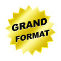 Grand Format Sign Stock Images