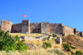 Grand fortress of selcuk in turkey Royalty Free Stock Images