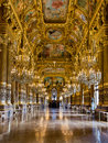 Grand foyer of the palais garnier the opera of paris Stock Image