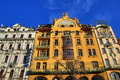 Grand Hotel Evropa, Old Buildings, Wenceslav Square, New Town, Prague, Czech Republic Royalty Free Stock Photo