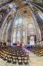 The grand interior of the landmark saint eustache church paris apr st eustace l'église on april in paris france st eustace s is Stock Photos