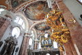 Grand interior of st jakob cathedral in innsbruck austria Royalty Free Stock Photo