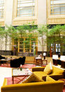 Grand lobby lounge furnishing Royalty Free Stock Photo