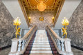 Grand marble staircase.