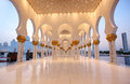 Grand mosque abu dhabi famous or sheikh zayed is a which is located in the capital of the united arab emirates Royalty Free Stock Photography