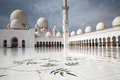Grand mosque abu dhabi the main square of sheikh zayed united arab emirates Royalty Free Stock Image