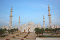 Grand mosque in abu dhabi sheikh zayed or called united arab emirates Stock Photography