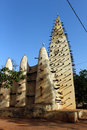 Grand mosque burkina faso old built in in bobo dioulasso Royalty Free Stock Photo