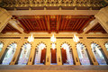 Grand mosque in Oman luxury interior with arches Royalty Free Stock Photography