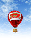 Grand Opening With a Hot Air Balloon Royalty Free Stock Images