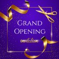 Grand Opening Invitation Blue ...