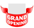 Grand opening ribbon Royalty Free Stock Image