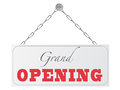 Grand opening sign Royalty Free Stock Photo