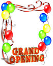 Grand Opening Sign Template Stock Image